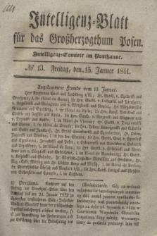 Intelligenz-Blatt für das Großherzogthum Posen. 1841, № 13 (15 Januar)