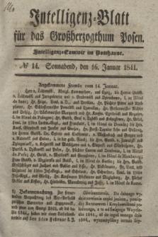 Intelligenz-Blatt für das Großherzogthum Posen. 1841, № 14 (16 Januar)
