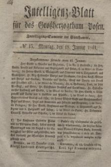 Intelligenz-Blatt für das Großherzogthum Posen. 1841, № 15 (18 Januar)