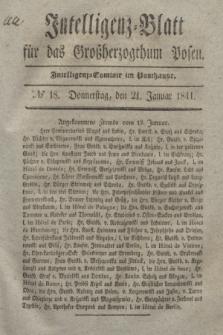 Intelligenz-Blatt für das Großherzogthum Posen. 1841, № 18 (21 Januar)