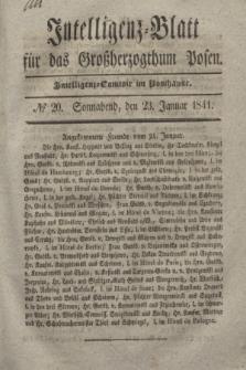 Intelligenz-Blatt für das Großherzogthum Posen. 1841, № 20 (23 Januar)