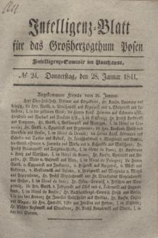 Intelligenz-Blatt für das Großherzogthum Posen. 1841, № 24 (28 Januar)