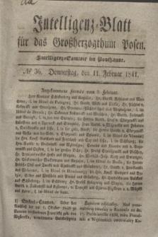 Intelligenz-Blatt für das Großherzogthum Posen. 1841, № 36 (11 Februar)