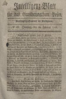 Intelligenz-Blatt für das Großherzogthum Posen. 1841, № 40 (16 Februar)