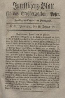 Intelligenz-Blatt für das Großherzogthum Posen. 1841, № 42 (18 Februar)