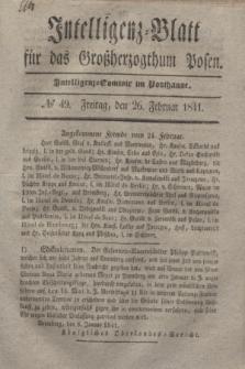 Intelligenz-Blatt für das Großherzogthum Posen. 1841, № 49 (26 Februar)