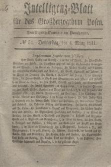 Intelligenz-Blatt für das Großherzogthum Posen. 1841, № 54 (4 März)