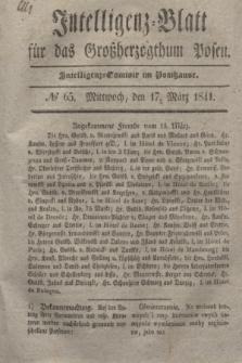 Intelligenz-Blatt für das Großherzogthum Posen. 1841, № 65 (17 März) + dod.