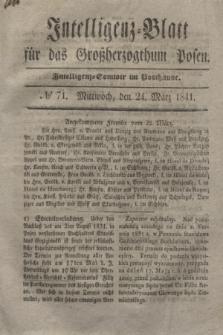 Intelligenz-Blatt für das Großherzogthum Posen. 1841, № 71 (24 März)
