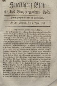 Intelligenz-Blatt für das Großherzogthum Posen. 1841, № 79 (2 April)