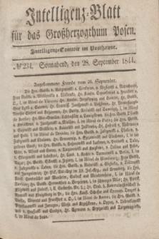 Intelligenz-Blatt für das Großherzogthum Posen. 1844, № 234 (28 September)