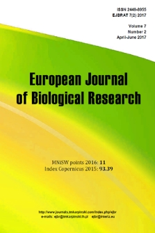 European Journal of Biological Research. Vol. 7, 2017, no. 2