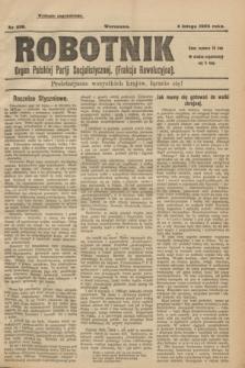 Robotnik : organ Polskiej Partji Socjalistycznej (Frakcja Rewolucyjna). 1908, nr 226 (4 lutego) - wyd. zagraniczne