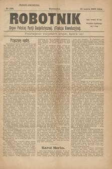 Robotnik : organ Polskiej Partji Socjalistycznej (Frakcja Rewolucyjna). 1908, nr 228 (23 marca) - wyd. zagraniczne