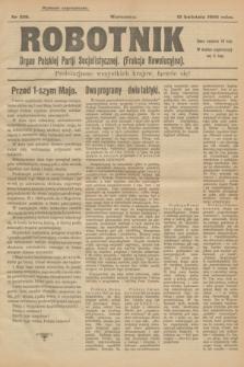 Robotnik : organ Polskiej Partji Socjalistycznej (Frakcja Rewolucyjna). 1908, nr 229 (12 kwietnia) - wyd. zagraniczne