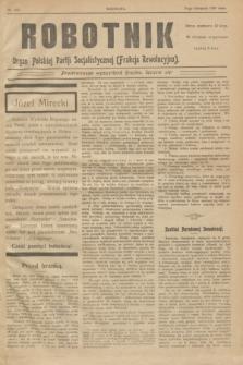 Robotnik : organ Polskiej Partji Socjalistycznej (Frakcja Rewolucyjna). 1908, nr 233 (10 listopada)
