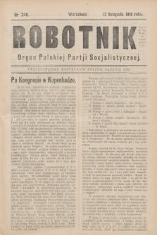 Robotnik : organ Polskiej Partji Socjalistycznej (Frakcja Rewolucyjna). 1910, nr 248 (12 listopada)