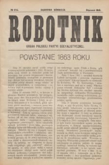 Robotnik : organ Polskiej Partyi Socyalistycznej. 1916, № 274 (styczeń)