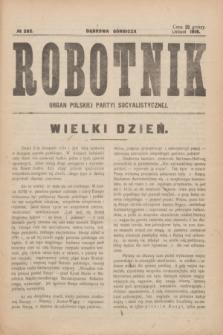 Robotnik : organ Polskiej Partyi Socyalistycznej. 1916, № 282 (listopad)