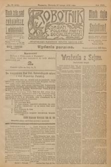 Robotnik : organ Polskiej Partyi Socyalistycznej. R.25, nr 75 (16 lutego 1919) = nr 452 - wyd. poranne