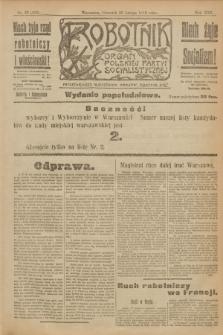 Robotnik : organ Polskiej Partyi Socyalistycznej. R.25, nr 82 (20 lutego 1919) = nr 459 - wyd. popołudniowe