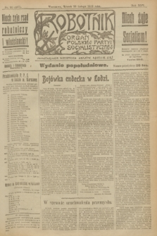 Robotnik : organ Polskiej Partyi Socyalistycznej. R.25, nr 90 (25 lutego 1919) = nr 467 - wyd. popołudniowe