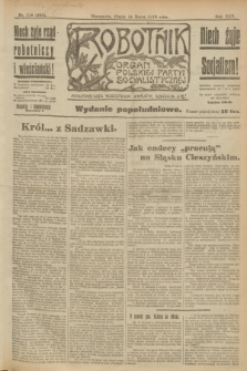 Robotnik : organ Polskiej Partyi Socyalistycznej. R.25, nr 118 (14 marca 1919) = nr 495 - wyd. popołudniowe