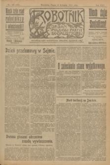 Robotnik : organ Polskiej Partyi Socyalistycznej. R.25, nr 155 (11 kwietnia 1919) = nr 532