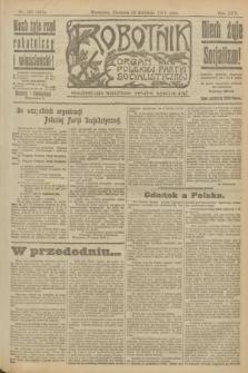 Robotnik : organ Polskiej Partyi Socyalistycznej. R.25, nr 157 (13 kwietnia 1919) = nr 534
