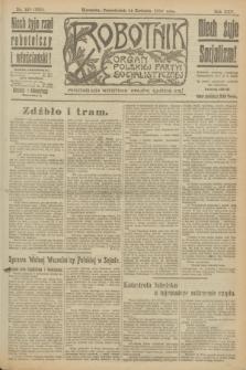 Robotnik : organ Polskiej Partyi Socyalistycznej. R.25, nr 158 (14 kwietnia 1919) = nr 535