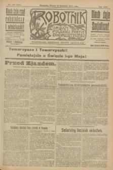 Robotnik : organ Polskiej Partyi Socyalistycznej. R.25, nr 159 (15 kwietnia 1919) = nr 536