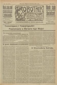 Robotnik : organ Polskiej Partyi Socyalistycznej. R.25, nr 164 (22 kwietnia 1919) = nr 541