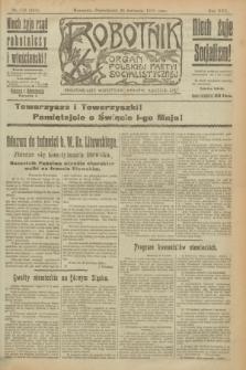 Robotnik : organ Polskiej Partyi Socyalistycznej. R.25, nr 170 (28 kwietnia 1919) = nr 547