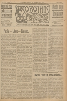 Robotnik : organ Polskiej Partyi Socyalistycznej. R.25, nr 277 (14 sierpnia 1919) = nr 654