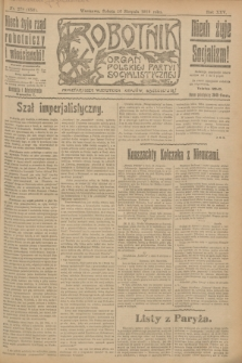 Robotnik : organ Polskiej Partyi Socyalistycznej. R.25, nr 279 (16 sierpnia 1919) = nr 656