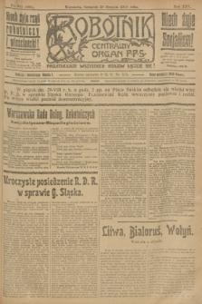 Robotnik : centralny organ P.P.S. R.25, nr 291 (28 sierpnia 1919) = nr 668