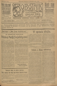 Robotnik : centralny organ P.P.S. R.25, nr 294 (31 sierpnia 1919) = nr 671