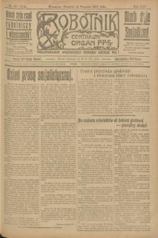Robotnik : centralny organ P.P.S. R.25, nr 307 (14 września 1919) = nr 684