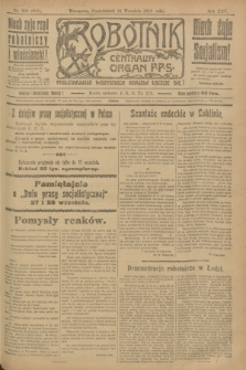 Robotnik : centralny organ P.P.S. R.25, nr 308 (15 września 1919) = nr 685