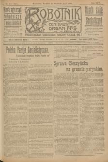 Robotnik : centralny organ P.P.S. R.25, nr 314 (21 września 1919) = nr 691