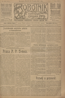 Robotnik : centralny organ P.P.S. R.25, nr 321 (28 września 1919) = nr 698
