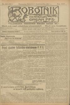 Robotnik : centralny organ P.P.S. R.25, nr 332 (9 października 1919) = nr 709