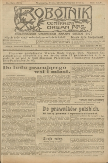 Robotnik : centralny organ P.P.S. R.25, nr 345 (22 października 1919) = nr 722
