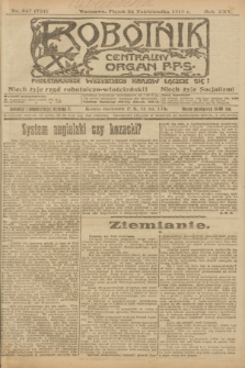 Robotnik : centralny organ P.P.S. R.25, nr 347 (24 października 1919) = nr 724