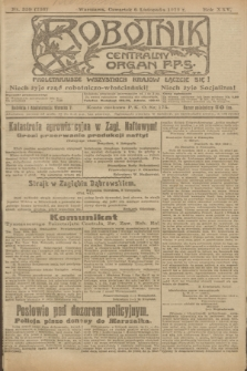 Robotnik : centralny organ P.P.S. R.25, nr 359 (6 listopada 1919) = nr 736