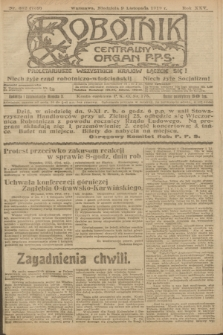 Robotnik : centralny organ P.P.S. R.25, nr 362 (9 listopada 1919) = nr 739