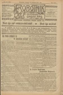 Robotnik : centralny organ P.P.S. R.25, nr 373 (20 listopada 1919) = nr 750