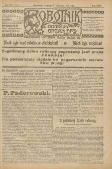 Robotnik : centralny organ P.P.S. R.25, nr 380 (27 listopada 1919) = nr 757