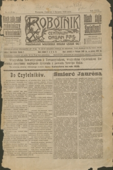 Robotnik : centralny organ P.P.S. R.26, nr 1 (1 stycznia 1920) = nr 789