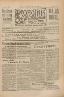 Robotnik : centralny organ P.P.S. R.26, nr 18 (18 stycznia 1920) = nr 806